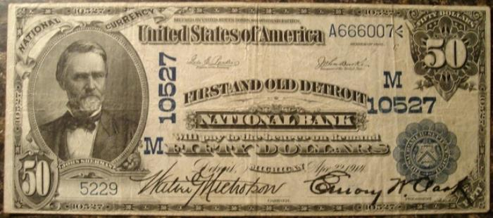 Series 1902 $50 Dollar Bill National Currency