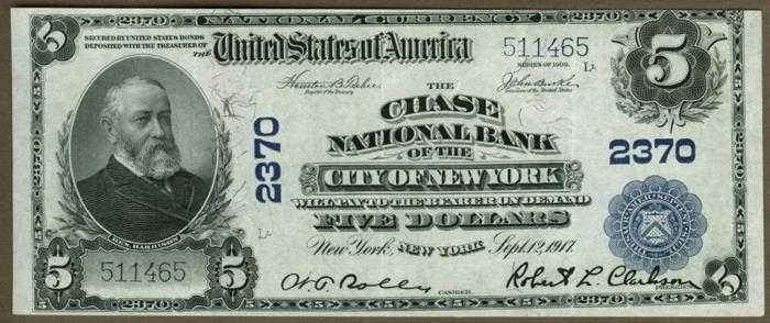 New National Currency Series 1902 5 Dollar Bill