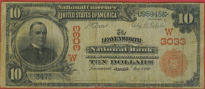 10 1902 Manchester New Hampshire NH National Currency Bank Note Bill 1153 FINE