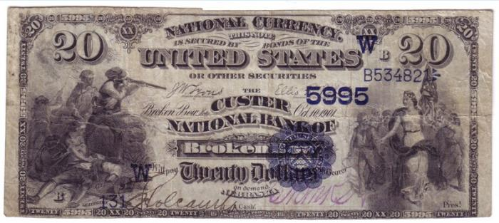 Series 1882 $20 Dollar Bill National Currency