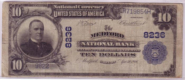 Series 1902 $10 Dollar Bill National Currency