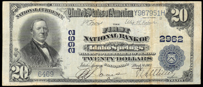 Idaho Springs, Colorado National Currency Bank Note 1902 Blue Seal