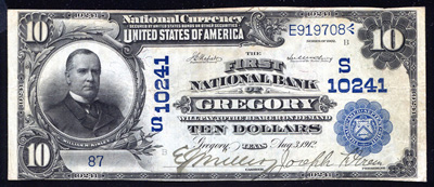 Texas National Currency Bank Notes
