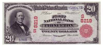 Princeton, West Virginia Series 1902 $20.00 National Currency Bank Note